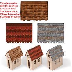 Sizzix - Bigz Die by Tim Holtz - Village Rooftops (requires Village Dwelling or Village Brownstone die)
