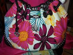 ★BRIGHTON *LILLY* REVERSIBLE SOFT CANVAS SHOULDER TOTE BAG $129