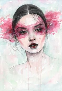 Artfinder: essence by tomasz mrozkiewicz - original watercolor painting watercolor art face, watercolor portrait Watercolor Art, Art Painting, Face Art, Drawings, Art Projects, Watercolor Art Journal, Illustration Art, Art, Watercolor Art Paintings