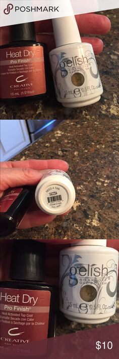 Gelish polish and Creative heat activated Top Coat New- Gel polish in neutral beige color w/ top coat for gel manicure! Gelish Makeup