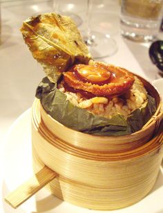 Steamed fried rice w/ whole Australian abalone @ wild fungus served at Sing Yin restaurant in #HongKong