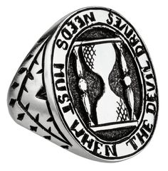 Hour Glass Signet Ring