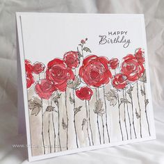 shirley-bee's stamping stuff: Seize The Birthday - Red and White
