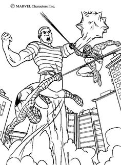 Fight Action Coloring Page Do You Like SPIDER MAN Pages Can Print Out This Pagev Or Color It Online With Our