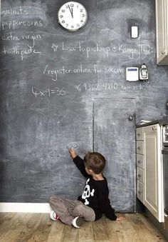 revestimientos ideas y trucos para decorar la casa : Paredes Pizarra para la Decoración del Hogar