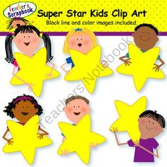 Super Star Kids Clip Art product from TeacherScrapbook on TeachersNotebook.com