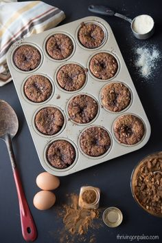 Paleo Cinnamon Roll Muffins - Thriving On Paleo