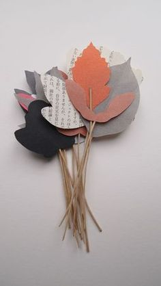 Inspiration: paper leaves. Nice gift tags, place cards or gift embellishment.