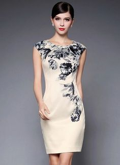 I like the overall form and the asymmetrical pattern - Embellished Silk Blend Mini Dress Unique Dresses, Elegant Dresses, Stylewe Dresses, Mode Unique, Mexican Fashion, Iranian Women Fashion, Long Cocktail Dress, Unique Fashion, Fashion Design