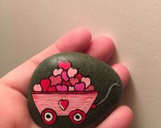 Love Painted Rock For Valentine Decorations Ideas 1