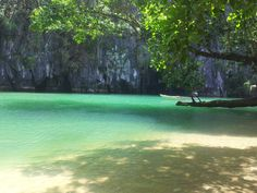 One of the New 7 Wonders of Nature in the World - The Underground River in Palawan, Philippines. I'll let the picture speak for its self. :)