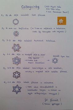 Csillagvirág szett mintája - szett külön lapon