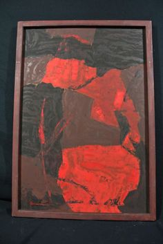 Beautiful Deep Signed Framed Mary Sutherland Willcox Abstract Oil on Board