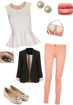 """""""coral and light pink"""" by kylabrandi ❤ liked on Polyvore"""