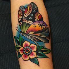 Tattoo butterfly old school flower Ideas tattoo old school Tattoo butterfly old school flower Ideas Neue Tattoos, Body Art Tattoos, Sleeve Tattoos, Portrait Tattoos, Hand Tattoos, Pretty Tattoos, Beautiful Tattoos, Cool Tattoos, Tatoos