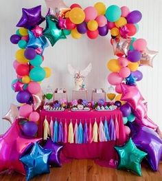 #partystyling #desserttable #starballoons #balloongarland #tassels #dessert #desserts #unicornparty #unicorncake #partystylist #partymagazine #partyblog #partyfeature #partyblogger #partytable