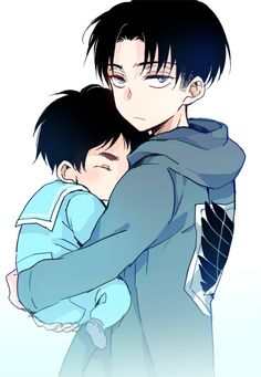 I LOVE this picture soo much <3 I think its cuz Levi looks like a protective older brother or something :)