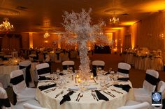 #DIY_Bride - Rebecca worked on the wish tree, the homemade table numbers, place cards and decor for her cocktail hour at #Minerals_Resort_and_spa