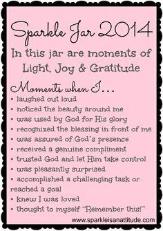 Sparkle Jar / Blessing Jar / Gratitude Jar