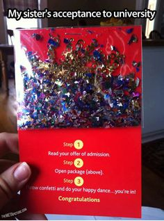 I want to hand out confetti packets like this for SO MANY OCCASIONS. Celebrate the little things, right ?
