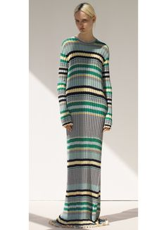 Skirt in Jacquard Striped Knit - Spring / Summer Collection 2015 | CÉLINE