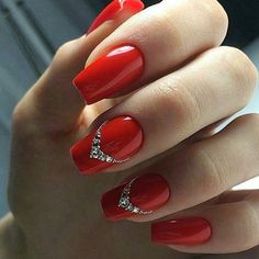 Here at Fav Nail Art, we are all about finding the best nail art on the planet. Below you will find the Best Nail Art - 22 Best Nail Art Designs for Swarovski Nails, Crystal Nails, Rhinestone Nails, Bling Nails, Red Nail Designs, Best Nail Art Designs, Acrylic Nail Designs, Red Nail Art, Red Acrylic Nails