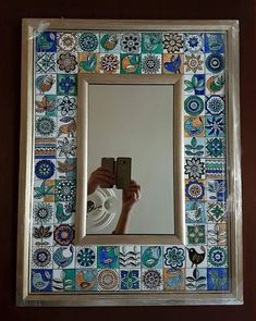 With intricate designs and a wide array of patterns, decorating homes with ceramics has become quite the big trend in … Ceramic Wall Art, Ceramic Painting, Tile Art, Painting On Wood, Mirror Mosaic, Mirror Tiles, Painting Patterns, Tile Patterns, Art Decor