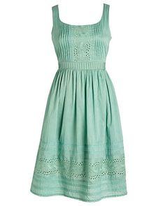Vintage Mint Eyelet Dress