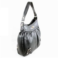 Karla Hanson - Black Hobo Bag - $199.00/each This Ladies Fashion Crossbody Bag is made from cow leather with a golden finish, approximately 32 x 6 x 33-21 cm. Presented by www.ecomcreator.com Leather Crossbody Bag, Leather Bag, Ladies Fashion, Womens Fashion, Green And Purple, Hobo Bag, Cow Leather, Bag Making, Lady