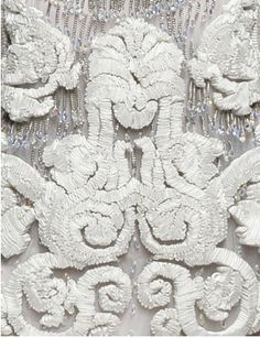 embroidery #details #textile #fabric #fashion #embroidery #grey #white