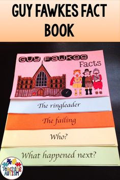 This Guy Fawkes fact book is a great addition to your Bonfire Night activities and lesson plans. Your students will love filling in the details and learning different facts about Guy Fawkes. Autism Teaching, Autism Classroom, Special Education Classroom, Bonfire Night Activities, Bonfire Night Crafts, Guy Fawkes Facts, Sensory Activities, Book Activities, Facts About Guys