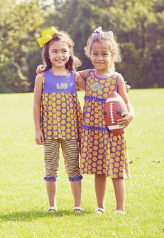 Polka Dots and #Purple and #Gold!  www.orientexpressed.com  #lsu #football