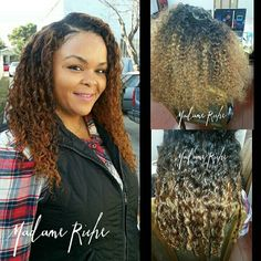 "Another #MadameRicheMasterpiece !. Thanks for letting me work my magic and choosing the best hair ever! #ImSoRiche #GetRiche  Model: my beautiful cousin @herba_diva24  Style: #SupernaturalInstall w/ (3) 18"" raw Brazilian coarse curly bundles (packages including hair can be booked online under exclusive services)  Stylist: custom color & install by @La_Femme_Riche  #voiceofhair #natural #rawhair #RawVirginHair #MadameRiche #bestweaves #bestsalon #lastylist #sewins #lahair #BOOKLANI…"