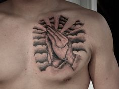 40 Images OF Praying Hands Tattoos - Way to God
