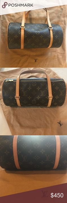 Louis Vuitton Papillion 26-excellent condition! Beautiful Louis Vuitton Papillion 26 bag...timeless, classic LV brown canvas. Has been in a dust bag stored on shelf most of her life. I carried for a short period of time and it is in EXCELLENT condition. Please ask questions Louis Vuitton Bags