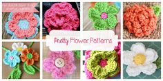 Pretty Flowers ~ free pattern ᛡ