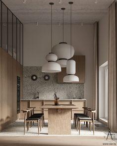 Minimalist Interior, Modern Interior, Home Interior Design, Interior Styling, Interior Architecture, Interior And Exterior, Interior Decorating, Kitchen Interior, Kitchen Design