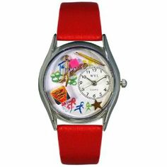 Whimsical Watches Women's S0640004 Preschool Teacher Red Leather Watch Whimsical Watches. $40.99