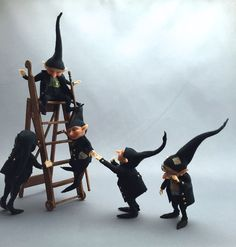 *ThiCkEt PeOpLe*-Witch/Wizard busy little HeLper gnomes-M&CH* in Dolls & Bears, Dolls' Miniatures & Houses, Hand-Made Items