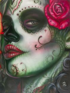 Dia de Los Muertos ~ I know it's played out, but I'd definitely want to recreate this look in real life.