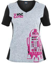 Cherokee Tooniforms R2-D2 Print Top