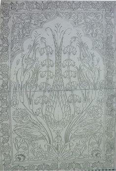 Stair Rods For Carpet Runners Turkish Design, Turkish Art, Tile Murals, Tile Art, Pattern Drawing, Pattern Art, Hand Embroidery, Embroidery Designs, Diy Carpet