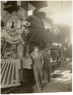 Wartime women workers, Great Northern Railway, Great Falls, Montana, ca. 1918.
