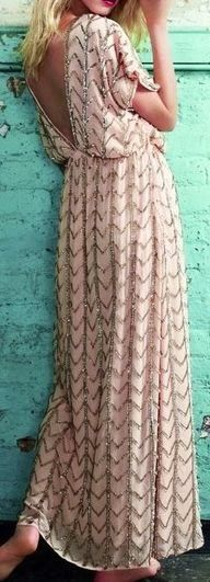 Cute maxi with back open long dress | Fashion and styles