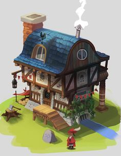 little house, Melanie Bourgeois on ArtStation at https://www.artstation.com/artwork/little-house-688ad0bb-8cde-410f-88c0-3fcca161805a