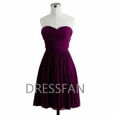 Eggplant-purple bridesmaid dress
