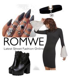 """ROMWE"" by kamila-peczek on Polyvore"