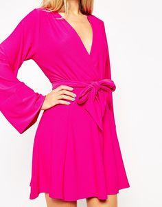 Image 2 ofASOS Kimono Wrap Dress with Tie Waist