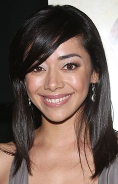 Aimee Garcia Medium Straight Cut with Bangs