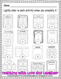 When they have finished an activity, they lightly shade in the image and cannot complete that same activity until they have completed them all. This helps them remember what they have done so they don't keep repeating activities.